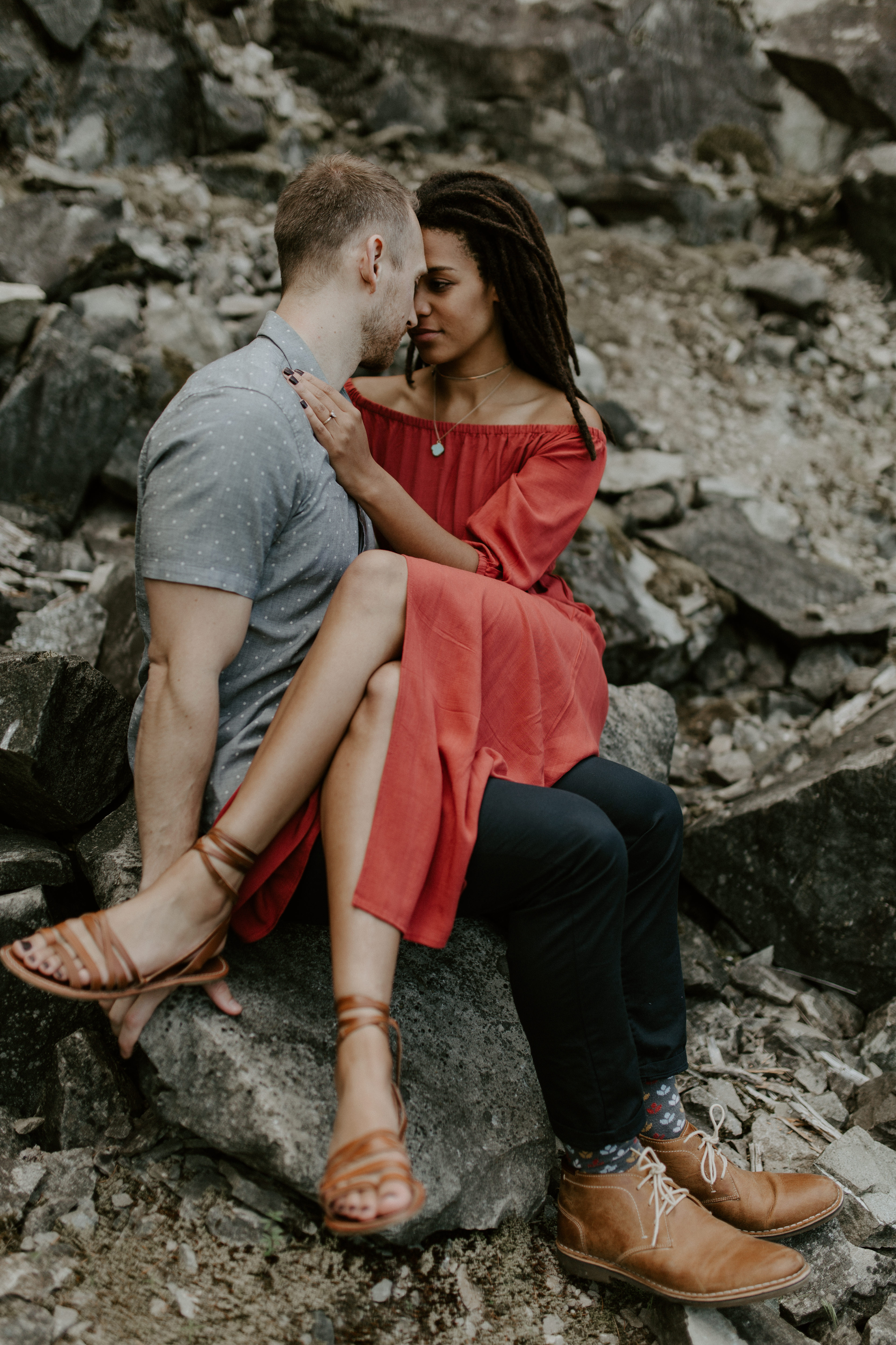 Engagement shoot at Cascade Locks in the Columbia River Gorge, Oregon.
